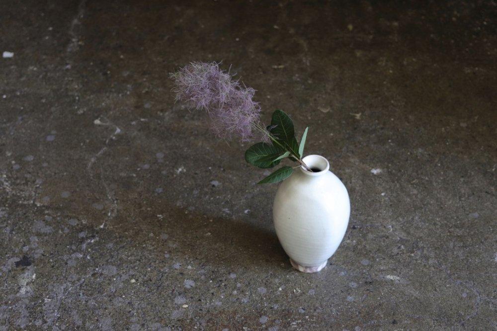 荒賀文成 粉引 花器