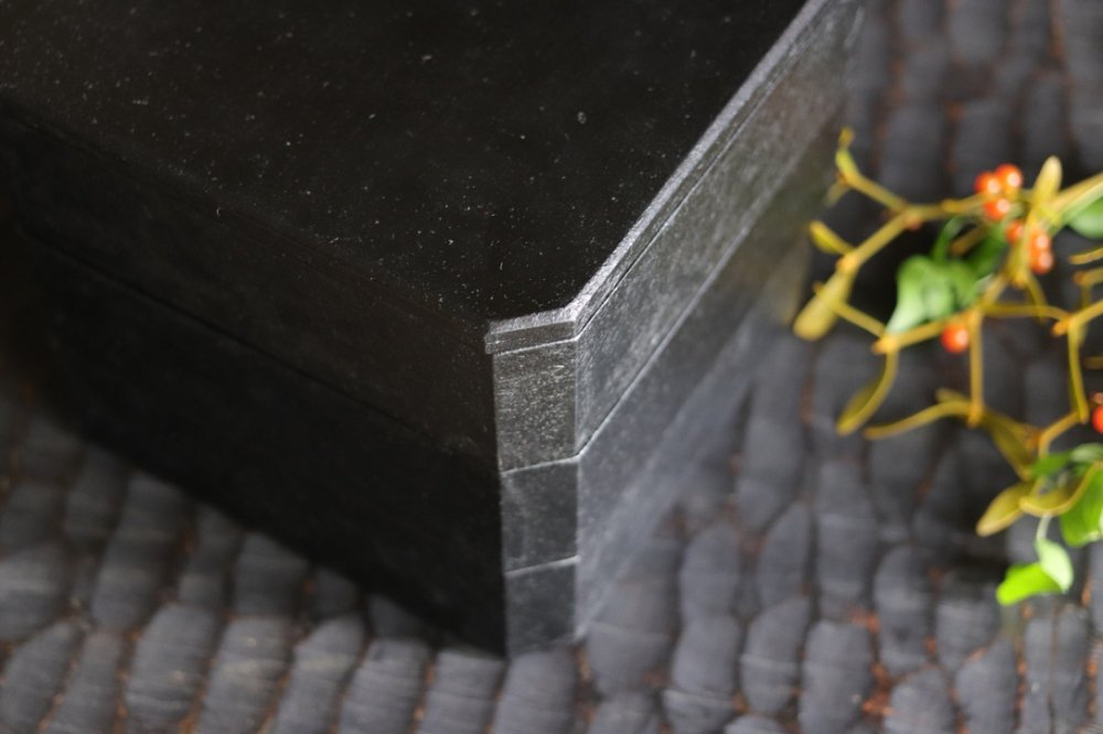 蝶野秀紀 和紙貼すみきり三段重B(黒)
