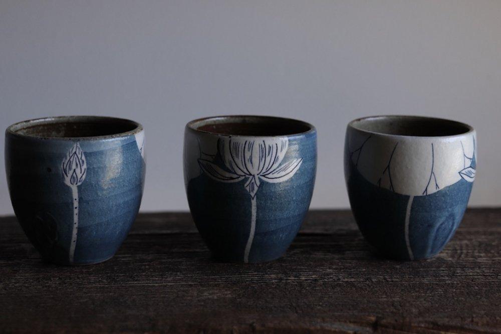 大谷桃子 青地ハス池の風景フリーカップ
