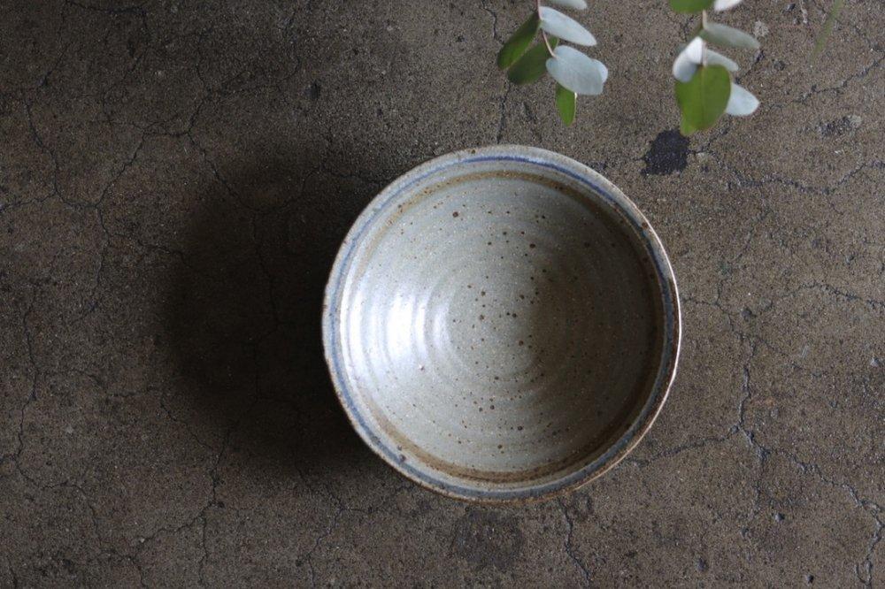 廣川温 6寸鉢 灰釉
