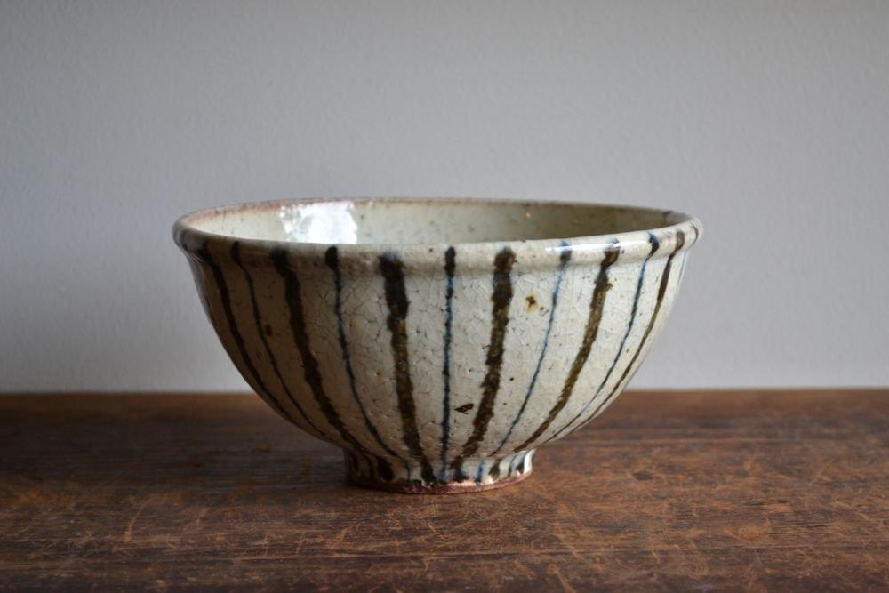 杉本太郎 うどん鉢(紫縞)
