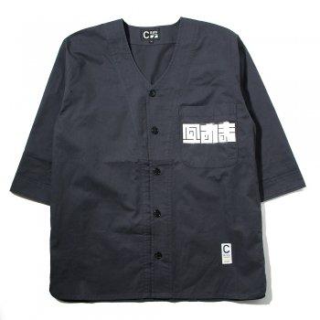 ベースボールダボシャツ(スミクロ)