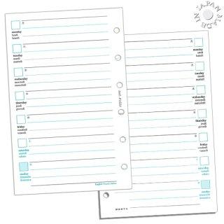 Cookday システム手帳 リフィル 見開き2週間/ケイ線入 ミニ6穴