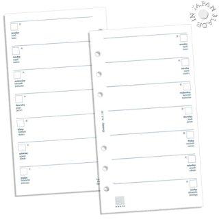 Cookday システム手帳 リフィル 見開き2週間 バイブル6穴
