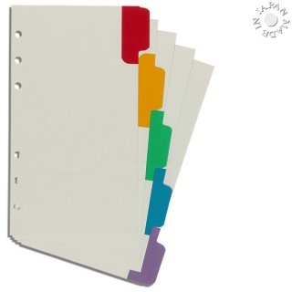 Cookday システム手帳 リフィル カラーインデックス バイブル6穴