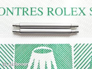 ロレックス純正17mm バネ棒 SWISS 正規品 オイスター バブルバック ロイヤル ボーイズ 2本1セット ヴィンテージケース専用 未使用保管品