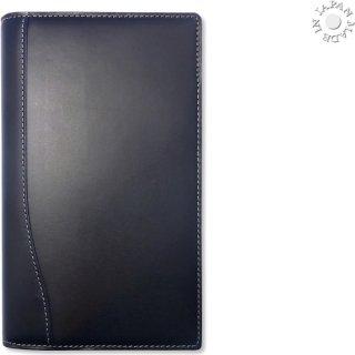 ブッテーロ イタリア ワラピエ社 正規本革 システム手帳 バイブル6穴ハーフ/ブルーブラック