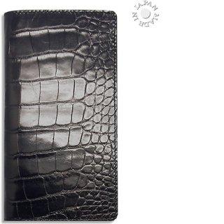 Cookday 手帳カバー 本革クロコ型押し/ブラック