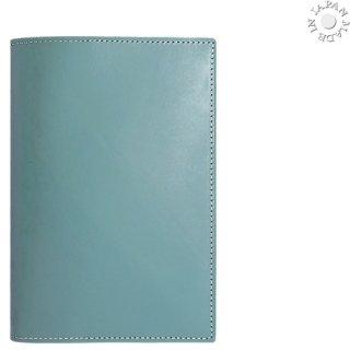 ブッテーロ ワラピエ社 本革 文庫カバー/ターコイズ色