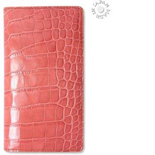 Cookday 手帳カバー 本革クロコ型押し/ピンク