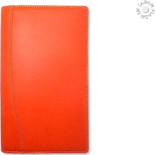 ブッテーロ イタリア ワラピエ社 正規本革 システム手帳 バイブル6穴ハーフ/オレンジ