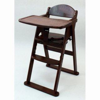 カトージ 木製ハイチェア セナ ステップ切り替え ブラウン