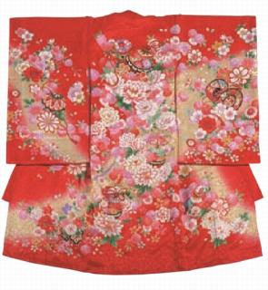 女児衣装 特選8 JM23 牡丹と鈴