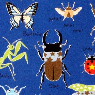 昆虫 ツイル コットンこばやし|ブルー