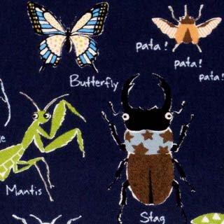 昆虫 ツイル コットンこばやし|ネイビー