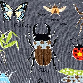 昆虫 ツイル コットンこばやし|グレー