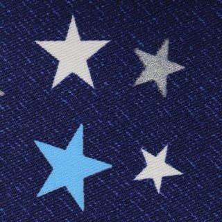 ツイル生地|星柄  ネイビー