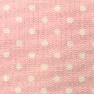 オックス生地 |ゆめかわ 水玉ピンク