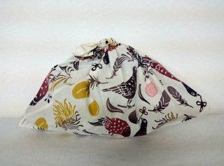 あずま袋 (鳩と桃の手触り柄)