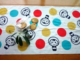てぬぐい おばこちゃん 赤/黄/青