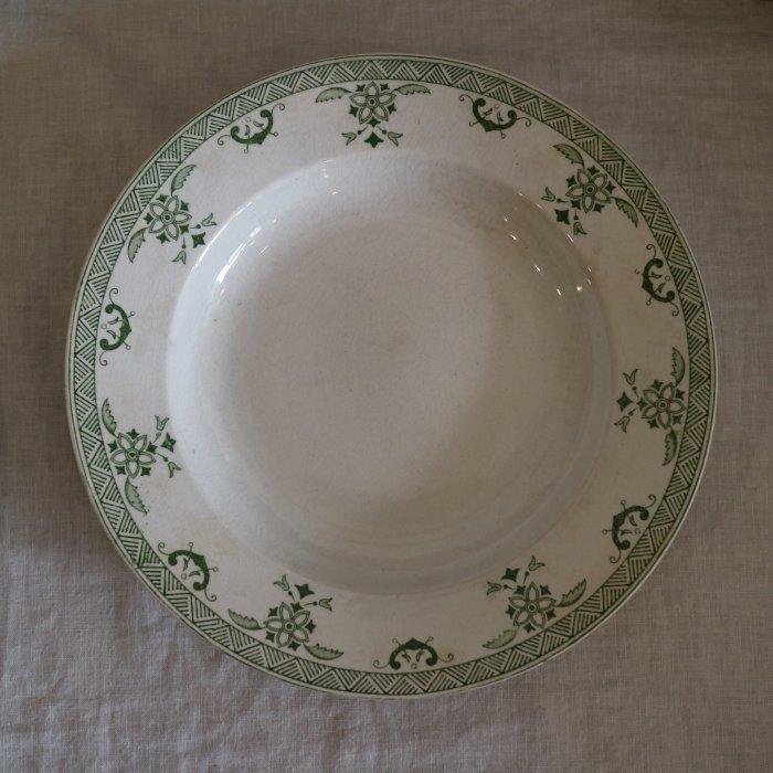 Antique アンティーク スーププレート CREIL et MONTEREAU クレイユエモントロー