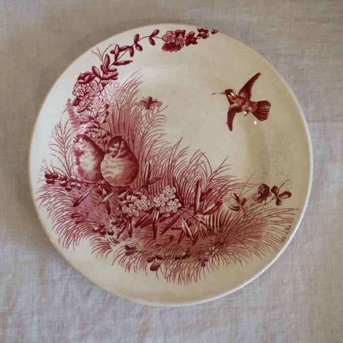 Antique アンティークプレート Bordeaux ボルドー oiseaux