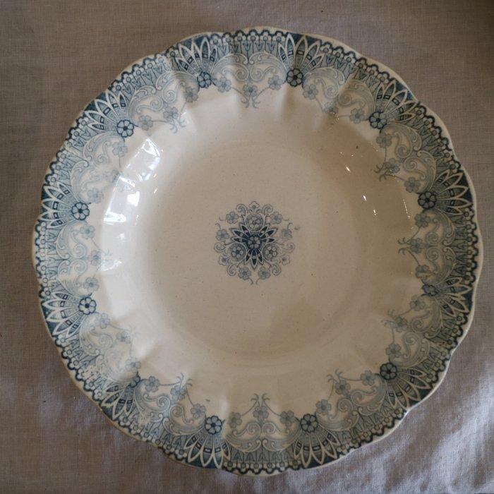 Antique アンティーク スーププレート   H.B.&Cie CHOISY LE ROI ショワジー・ル・ロワ