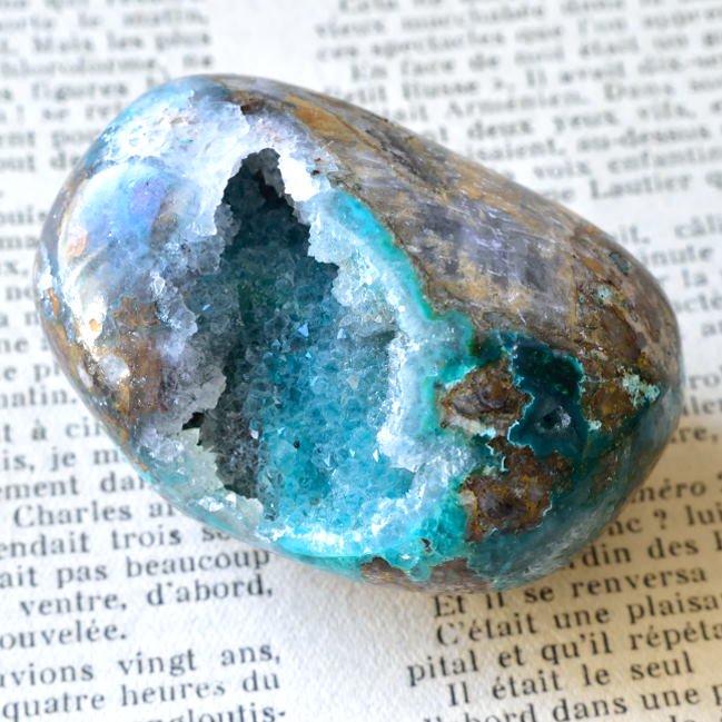 ジェムシリカ・ビッグタンブル ドゥルージー ペルー産 132g/鉱物・ヒーリング