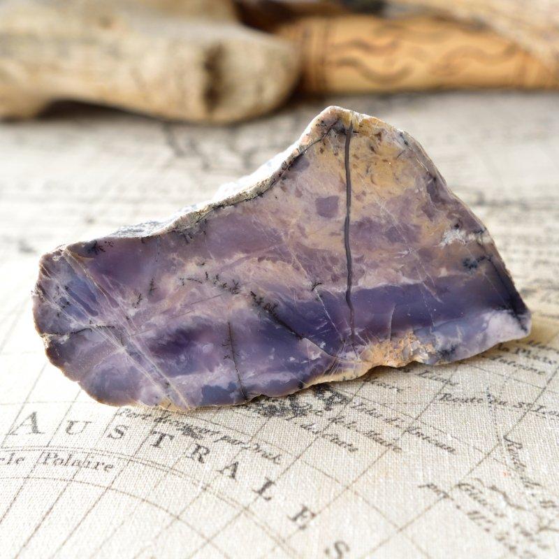 デンドライト・アゲート Purple  トルコ産 494g/ 鉱物・原石