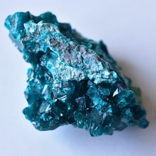 ダイオプテーズ・クリソコラ コンゴ・タンタラ鉱山産 30g/ 鉱物・結晶原石