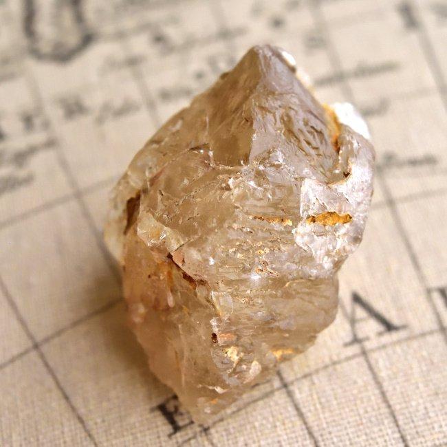シトリン・トライゴーニッククォーツ ブラジル・ミナスジェライス州産 80g/ 鉱物・ポイント水晶