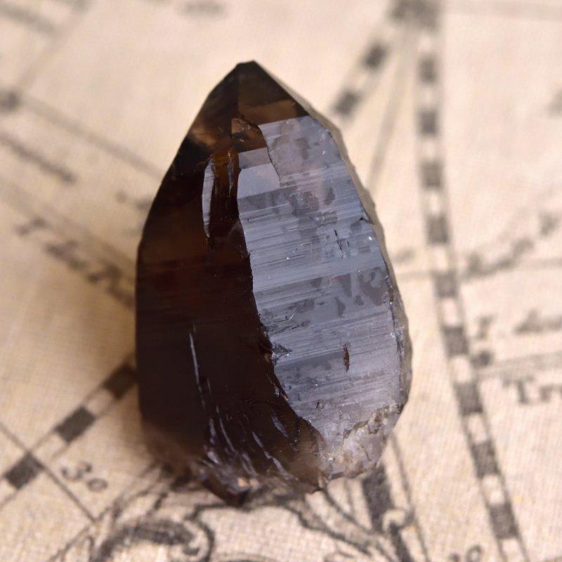 スモーキークォーツ・ポイント レコードキーパー&タントリックツイン トルコ産 45g/ 鉱物・結晶原石
