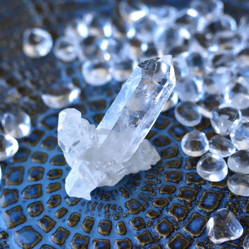 スターシード/スターブラリー・クォーツ ダイヤモンドウィンドウ Zeca de Souza ブラジル・ミナスジェライス州産 16g/ クリスタル・クラスター水晶