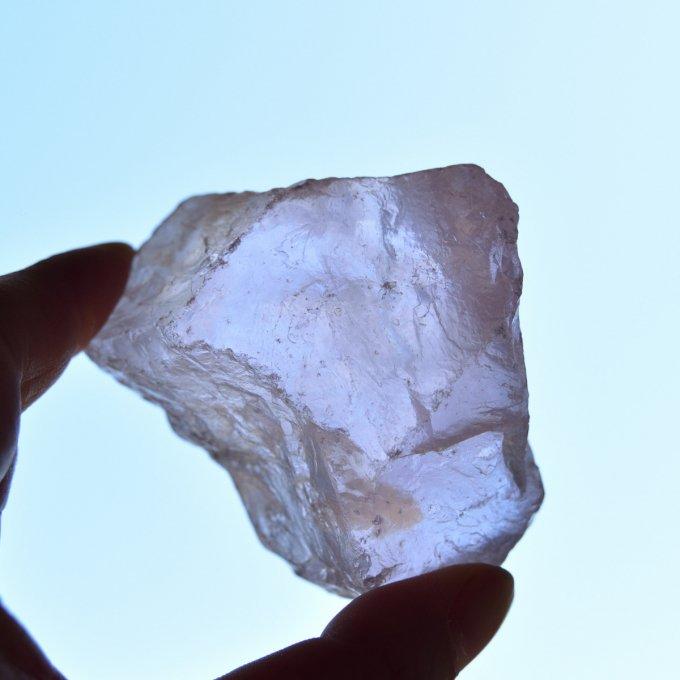 ローズクォーツ クリスタルラフ マダガスカル産 160g/ 結晶原石・レアコレクション