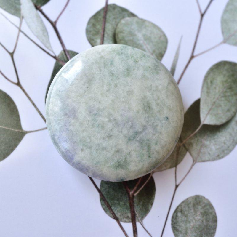 ミャンマー翡翠 戦士の石 ミャンマー産 97g/ ポリッシュ・パルムストーン