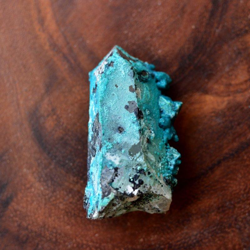 クリソコラ・オン・クォーツ 新時代のブルー ペルー産 19g/鉱物・結晶原石