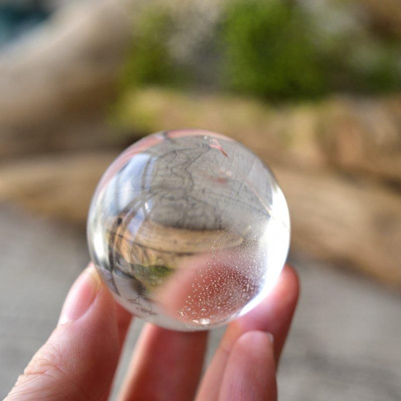 レムリアンシード Pure lay スフィア ブラジル・バイーア州産 131g/水晶丸玉・ヒーリング