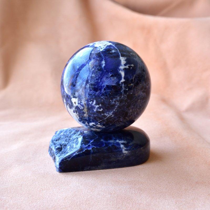 ソーダライト・スフィア Planet Earth マダガスカル産 308g/丸玉・インテリア