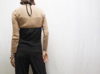 90s- Black Halter Neck Jumpsuit