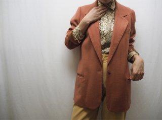 80s- Terracotta Wool Tailored Jacket