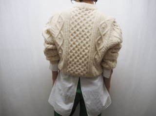 70s- Ivory Fisherman Knit Sweater
