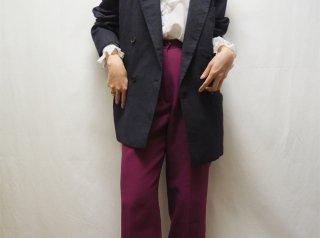 80s- Plum Tucked Pants