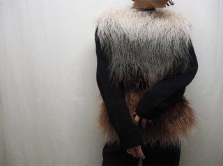 Multi Color Shaggy Faux Fur Vest