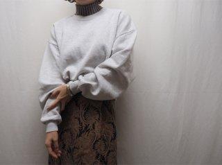 90s- Pale Gray Cropped Sweatshirt