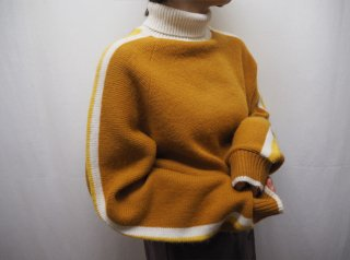 70s Marigold Lined High Neck Knit Sweater