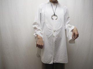1920s- White Band Collar Tuxedo Shirt
