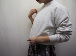 90s- Gray Cropped Sweatshirt