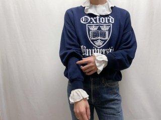 80s- Navy White Print Sweatshirt