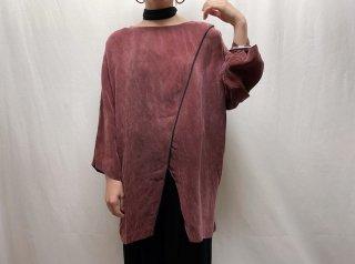 90s Smoky Pink Slit Design Top