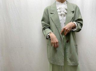 80s- Pistachio Green Light Tailored Jacket